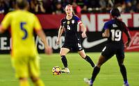 Carson, CA - November 13, 2016: The U.S. Women's National team take on Romania in an international friendly game at StubHub Center.