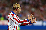 Atletico de Madrid's Fernando Torres shouts during quarterfinal first leg Champions League soccer match at Vicente Calderon stadium in Madrid, Spain. April 14, 2015. (ALTERPHOTOS/Victor Blanco)