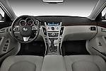 Straight dashboard view of a 2008 Cadillac CTS sedan.