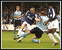 28/9/02       Copyright Pic : James Stewart                     .File Name : stewart-falkirk v st j'stone 03.IAN MAXWELL MAKES A CHALLENGE TO STOP LEE MILLER'S SHOT.....James Stewart Photo Agency, 19 Carronlea Drive, Falkirk. FK2 8DN      Vat Reg No. 607 6932 25.Office : +44 (0)1324 570906     .Mobile : + 44 (0)7721 416997.Fax     :  +44 (0)1324 570906.E-mail : jim@jspa.co.uk.If you require further information then contact Jim Stewart on any of the numbers above.........