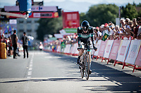 Rafal Majka (POL/Bora-Hansgrohe) rolling in at the finish<br /> <br /> stage 10 (ITT): Jurançon to Pau (36.2km > in FRANCE)<br /> La Vuelta 2019<br /> <br /> ©kramon
