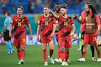 ST PETERSBURG, RUSSIA - JUNE 12 : Eden Hazard midfielder of Belgium and Thorgan Hazard midfielder of Belgium pictured during the 16th UEFA Euro 2020 Championship Group B match between Belgium and Russia on June 12, 2021 in St Petersburg, Russia, 12/06/2021 <br /> Photo Photonews / Panoramic / Insidefoto <br /> ITALY ONLY