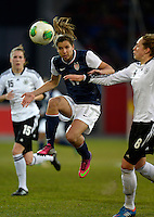 Offenbach, Germany, Friday, April 05 2013: Womans, Germany vs. USA, in the Stadium in Offenbach,  Tobin Heat (USA).