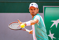 Paris, France, 31 May, 2018, Tennis, French Open, Roland Garros, Men's doubles, Wesley Koolhof (NED) <br /> Photo: Henk Koster/tennisimages.com