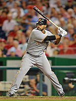 16 May 2012: Pittsburgh Pirates infielder Pedro Alvarez in action against the Washington Nationals at Nationals Park in Washington, DC. The Nationals defeated the Pirates 7-4 in the first game of their 2-game series. Mandatory Credit: Ed Wolfstein Photo