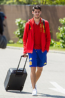 Spain's Alvaro Morata arrives at the concentration of national soccer team before the Uefa Euro 2016.  Jun 4,2016. (ALTERPHOTOS/Rodrigo Jimenez/Insidefoto)