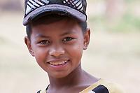 Cambodia, Bakong.  Young Cambodian Boy.