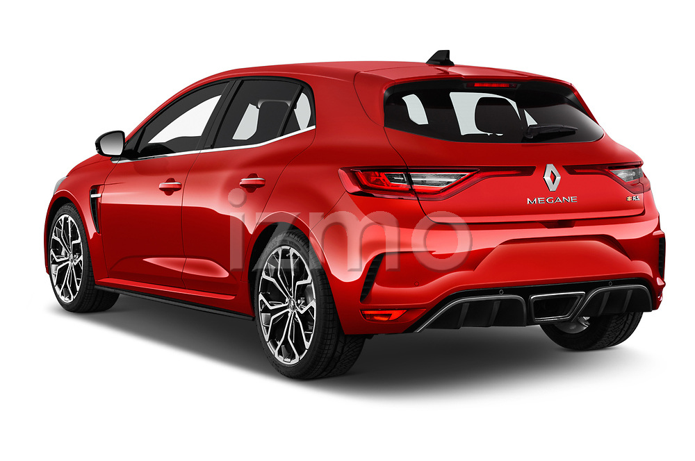 Car pictures of rear three quarter view of a 2018 Renault Megane R.S. base 5 Door Hatchback angular rear