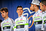 Warren Barguil (FRA) and Team Fortuneo-Smasic at sign on before the start Stage 2 of the 2018 Artic Race of Norway, running 195km from Tana to Kjøllefjord, Norway. 17th August 2018. <br /> <br /> Picture: ASO/Gautier Demouveaux | Cyclefile<br /> All photos usage must carry mandatory copyright credit (© Cyclefile | ASO/Gautier Demouveaux)