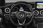 Car pictures of steering wheel view of a 2018 Mercedes Benz GLC Coupe base 5 Door SUV