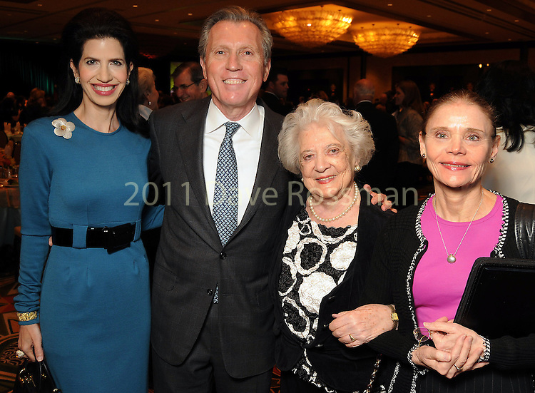 From left: Kelli Cohen-Fein, Martin Fein, Celina Fein and Helen Cohn at the Holocaust Houston's Museum Guardian of the Human Spirit Award luncheon at the Hilton Americas Hotel Thursday Nov. 03,2011.(Dave Rossman/For the Chronicle)