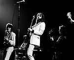 Eric Clapton 1973 Ron Wood, Steve Winwood, Eric Clapton and Rick Grech at the Rainbow..