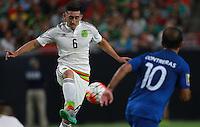 Hector Herrera de  de Mexico ,durante partido entre las selecciones de Mexico y Guatemala  de la Copa Oro CONCACAF 2015. Estadio de la Universidad de Arizona.<br /> Phoenix Arizona a 12 de Julio 2015.