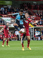Aaron Holloway of Wycombe Wanderers during the Sky Bet League 2 match between Crawley Town and Wycombe Wanderers at Checkatrade.com Stadium, Crawley, England on 29 August 2015. Photo by Liam McAvoy.