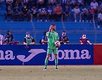 SAN PEDRO SULA, HONDURAS - SEPTEMBER 8: Matt Turner  #1 of the United States yells to his defense during a game between Honduras and USMNT at Estadio Olímpico Metropolitano on September 8, 2021 in San Pedro Sula, Honduras.