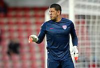 PRAGUE, Czech Republic - September 3, 2014: USA's goalie Nick Rimando during the international friendly match between the Czech Republic and the USA at Generali Arena.
