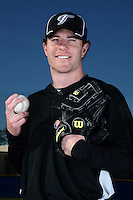 March 1, 2010:  Pitcher Lance Broadway (36) of the Toronto Blue Jays poses for a photo during media day at Englebert Complex in Dunedin, FL.  Photo By Mike Janes/Four Seam Images