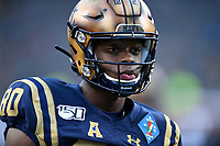 PHILADELPHIA, PA - DEC 14, 2019: Navy Midshipmen wide receiver Mark Walker (80) during warm ups before game between Army and Navy at Lincoln Financial Field in Philadelphia, PA. The Midshipmen defeated Army 31-7. (Photo by Phil Peters/Media Images International)