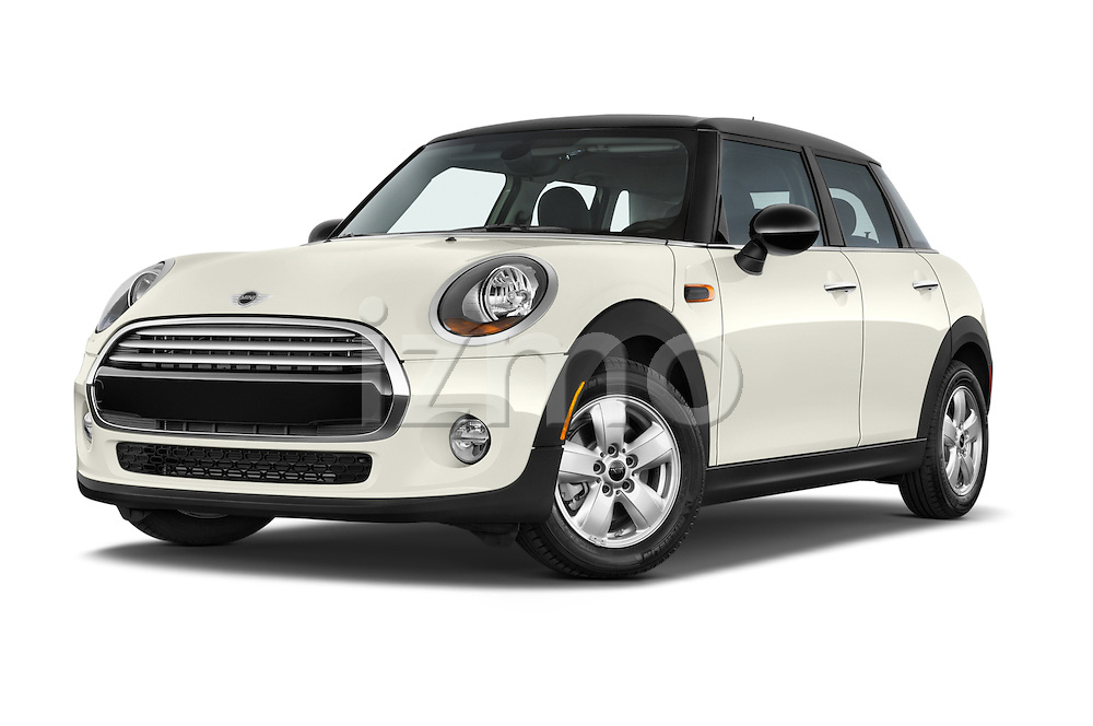 Stock pictures of low aggressive front three quarter view of a 2015 MINI Cooper Hardtop S 4 Door Hatchback Low Aggressive