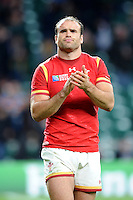 Jamie Roberts of Wales looks dejected after losing the Quarter Final of the Rugby World Cup 2015 between South Africa and Wales - 17/10/2015 - Twickenham Stadium, London<br /> Mandatory Credit: Rob Munro/Stewart Communications