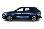 Car Driver side profile view of a 2020 Ford Kuga ST-Line 5 Door SUV Side View