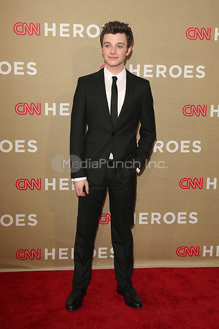 Chris Colfer at the CNN Heroes: An All-Star Tribute at The Shrine Auditorium on December 11, 2011 in Los Angeles, California.