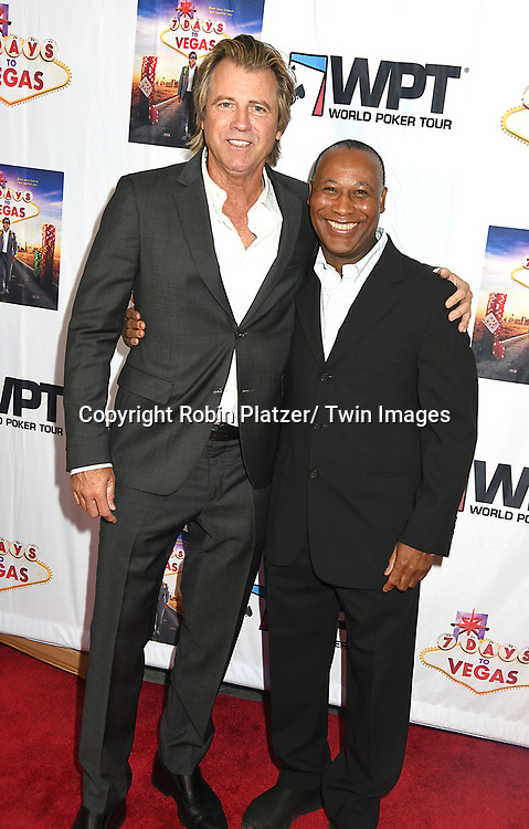 """actor/ writer/ Producer Vince Van Patten & Chauncey Duren attend the New York Premiere of """"7 Days to Vegas"""" on September 20, 2019 at Cinema Village in New York, New York, USA. <br /> <br /> photo by Robin Platzer/Twin Images<br />  <br /> phone number 212-935-0770"""