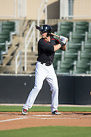 Louie Lechich (21) of the Kannapolis Intimidators at bat against the West Virginia Power at CMC-Northeast Stadium on April 21, 2015 in Kannapolis, North Carolina.  The Power defeated the Intimidators 5-3 in game one of a double-header.  (Brian Westerholt/Four Seam Images)