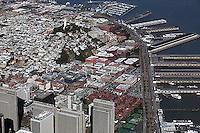 aerial photograph Embarcadero, Telegraph Hill North Beach San Francisco, California