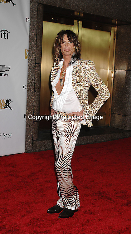 Steven Tyler..arriving for The Fourth Annual Fashion Rocks concert presented by Conde Nast Media Group on ..September 6, 2007 at Radio City Music Hall. ..Photo by Robin Platzer, Twin Images....212-935-0770