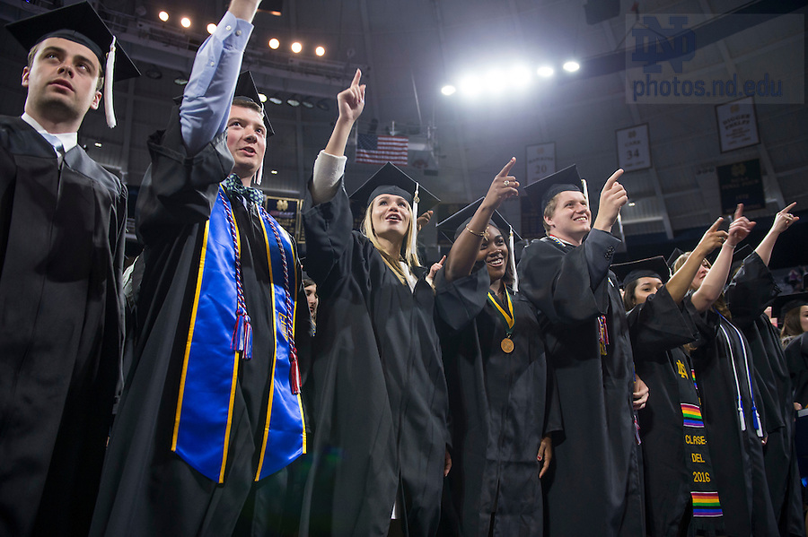 May 15, 2016; 2016 College of Arts and Letters diploma ceremony, Commencement 2016. (Photo by Barbara Johnston/University of Notre Dame)