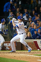 Chicago Cubs Kris Bryant (17) bats in the eighth inning during Game 4 of the Major League Baseball World Series against the Cleveland Indians on October 29, 2016 at Wrigley Field in Chicago, Illinois.  (Mike Janes/Four Seam Images)
