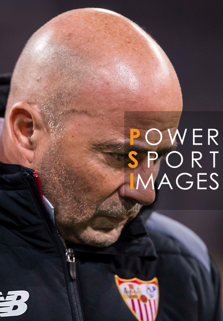 Coach Jorge Luis Sampaoli of Sevilla FC looks on prior to the Copa del Rey Round of 16 match between Real Madrid and Sevilla FC at the Santiago Bernabeu Stadium on 04 January 2017 in Madrid, Spain. Photo by Diego Gonzalez Souto / Power Sport Images