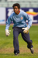 USA goalkeeper Briana Scurry. The United States defeated China 1-0 during the finals of the Four Nations Tournament in Guangzhou, China on January 20, 2008.
