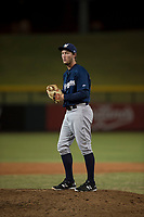 AZL Brewers relief pitcher Tyler Tungate (23) prepares to deliver a pitch during an Arizona League game against the AZL Cubs 1 at Sloan Park on June 29, 2018 in Mesa, Arizona. The AZL Cubs 1 defeated the AZL Brewers 7-1. (Zachary Lucy/Four Seam Images)