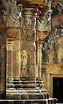 Banteay Srei Temple 02 - Intricately carved sandstone Devata on the central shrine in the inner enclosure of Banteay Srei Temple, Siem Reap, Cambodia