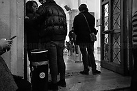 """Anti-bomb police dog.<br /> <br /> Rome, 08/02/19. Moby Dick Library & Cultural Hub in Garbatella district & Antimafia Duemila (2.) held the presentation of the book """"Il Patto Sporco"""" (The Dirty Pact. The Trial State-mafia in the Story [narrated] by his Protagonist, Chiarelettere, 1.) hosted by the author of the book Saverio Lodato (Journalist & Author), Antonino 'Nino' Di Matteo (Protagonist of the book, Antimafia Magistrate of Palermo, member of the DNA - Antimafia & Antiterrorism National Directorate - who """"prosecuted the Italian State for conspiring with the Mafia in acts of murder and terror"""", 3.4.5.6.) & Giorgio Bongiovanni (Editor of Antimafia Duemila). Chair of the event was Silvia Resta (Journalist & Author). Readers were: Bianca Nappi & Carlotta Natoli (both Actresses). From the back cover of the book: """"Let us ask ourselves why politics, institutions, culture, have needed the words of judges to finally begin to understand…A handful of magistrates and investigators have shown not to be afraid to prosecute the [Italian] State. Now others must do their part too"""" (Nino Di Matteo). """"In the pages of this book I wanted the magistrate, the man, the protagonist and the witness to speak about a trial destined to leave its mark"""" (Saverio Lodato). From the book online page: """"The attacks to Lima [politician], Falcone & Borsellino [Judges], the bombs in Milan, Florence, Rome, the murders of valiant police commissioners & officers of the carabinieri. The [Italian] State on its knees, its best men sacrificed. However, while the blood of the massacres was still running there were those who, precisely in the name of the State, dialogued and interacted with the enemy. The sentence of condemnation of Palermo [""""mafia-State negotiation"""" trial which is told in the book], against the opinion of many 'deniers', proved that the negotiation not only was there but did not avoid more blood. On the contrary, it provoked it"""" (1.).<br /> Footnotes & links provided at the 2nd & last pages"""