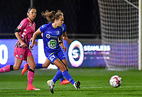 Jasmien Mathys (12 Gent) pictured during a female soccer game between  AA Gent Ladies and Sporting Charleroi Feminin on the fifth matchday of the 2020 - 2021 season of Belgian Scooore Womens Super League , friday 16 th of October 2020  in Oostakker , Belgium . PHOTO SPORTPIX.BE | SPP | DAVID CATRY