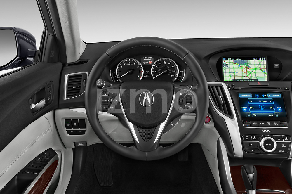 Car pictures of steering wheel view of a 2015-2017 Acura TLX Technology 4 Door Sedan
