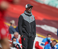24th April 2021; Anfield, Liverpool, Merseyside, England; English Premier League Football, Liverpool versus Newcastle United; Liverpool manager Jurgen Klopp watches from the touchline