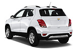 Car pictures of rear three quarter view of a 2018 Chevrolet Trax LT 5 Door SUV angular rear