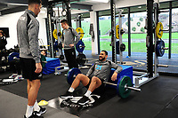 Cameron Carter-Vickers of Swansea City in the gym during the Swansea City Training at The Fairwood Training Ground in Swansea, Wales, UK. Tuesday 05 February 2019