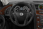 Car pictures of steering wheel view of a 2018 Nissan Armada Platinum 5 Door SUV Steering Wheel