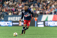 FOXBOROUGH, MA - SEPTEMBER 11: Teal Bunbury #10 of New England Revolution passes the ball during a game between New York City FC and New England Revolution at Gillette Stadium on September 11, 2021 in Foxborough, Massachusetts.