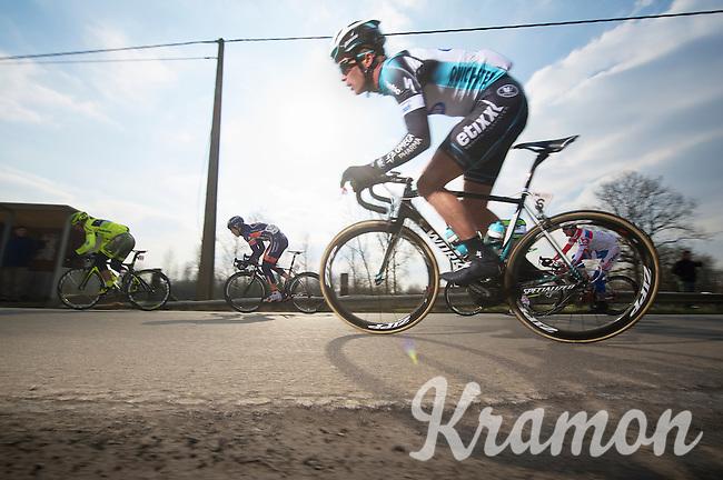 3 Days of De Panne.stage 1: Middelkerke - Zottegem..Iljo Keisse (BEL) charging out of a corner