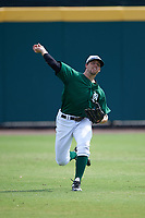 Dartmouth Big Green center fielder Nick Ruppert (1) during practice before a game against the South Florida Bulls on March 27, 2016 at USF Baseball Stadium in Tampa, Florida.  South Florida defeated Dartmouth 4-0.  (Mike Janes/Four Seam Images)