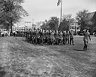 GPHR 45/1622:  ROTC Military Presidential Review, 1952/0503.  Image from the University of Notre Dame Archives.