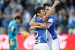 CD Leganes' Martin Mantovani and Dimitrios Siovas celebrate goal during La Liga match. February 25,2017. (ALTERPHOTOS/Acero)