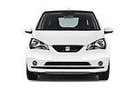 Car photography straight front view of a 2014 Seat MII Style 5 Door Hatchback 2WD Front View