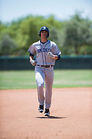 AZL Padres 2 designated hitter Payton Smith (50) rounds the bases during an Arizona League game against the AZL Dodgers at Camelback Ranch on July 4, 2018 in Glendale, Arizona. The AZL Dodgers defeated the AZL Padres 2 9-8. (Zachary Lucy/Four Seam Images)